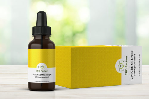 CBD Factum 25% CBD Oil Bottle And Box