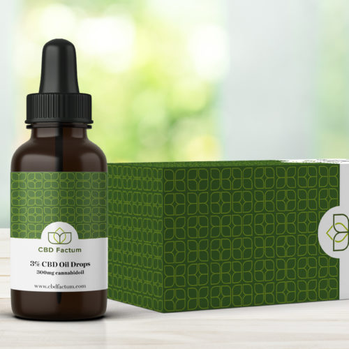 CBD Factum 3% CBD Oil Bottle And Box
