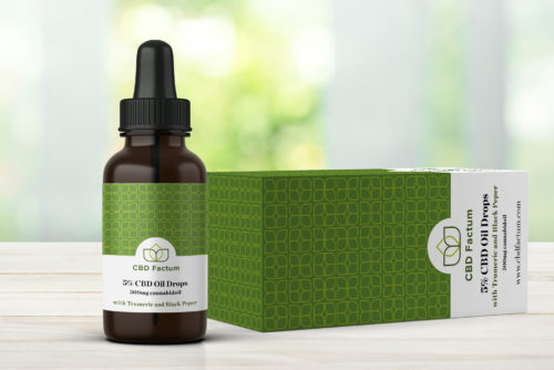 CBD Factum 5% CBD Oil Bottle And Box