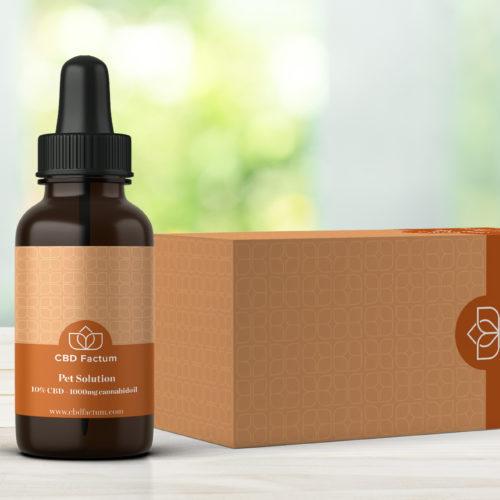 CBD Factum 10% mazací olej pre domáce zvieratá CBD pre fľašu a škatuľu pre kone