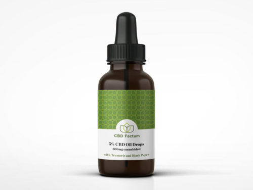 CBD Factum 5 Percent CBD Oil Bottle