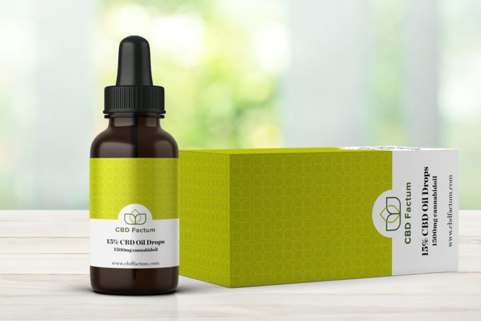 CBD Factum 15% CBD Oil Bottle And Box